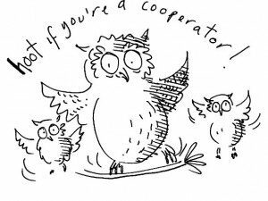 hoot if you're a cooperator